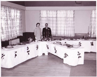 Col. Frank Castagneto and his wife, Anne, before a reception for officers and invited guests on New Years Day 1963.