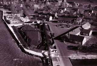 Aerial view of the Coal Yard (left foreground) in 1961.
